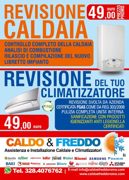 Caldo e freddo roma offerta revisione caldaia e for Revisione caldaia